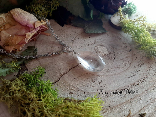 """Collier """"Pluie de fée"""" (Cristal de roche) Argent 925"""