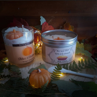 Duo bougies automne