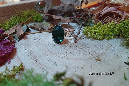 Enide (cristal Swarovski®) (Vert-Argenté)