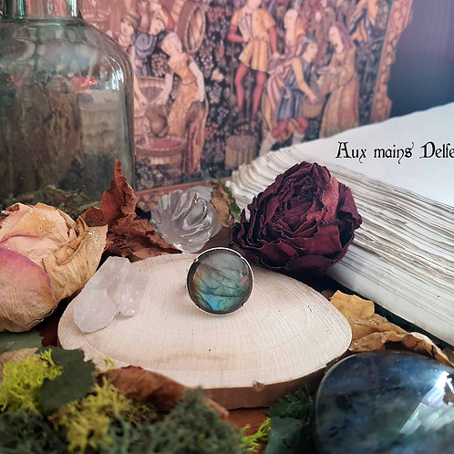 """Dame Séraphine"" (Labradorite) argent-925"