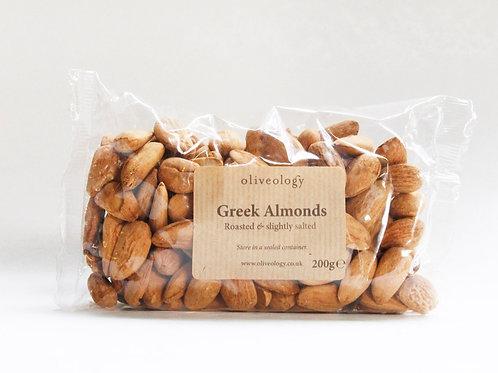 Organic Greek Almonds (roasted & slightly salted)