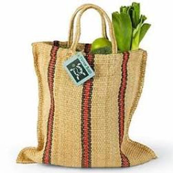 Turtle Bags: Stripey Tote Short Handle