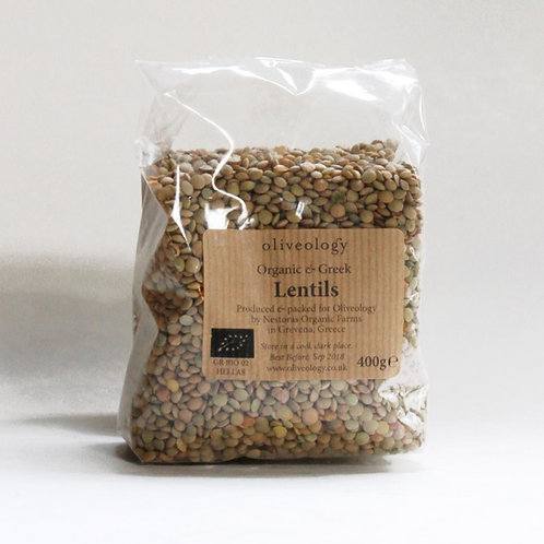 PULSES - Organic Greek Lentils Dried 400g