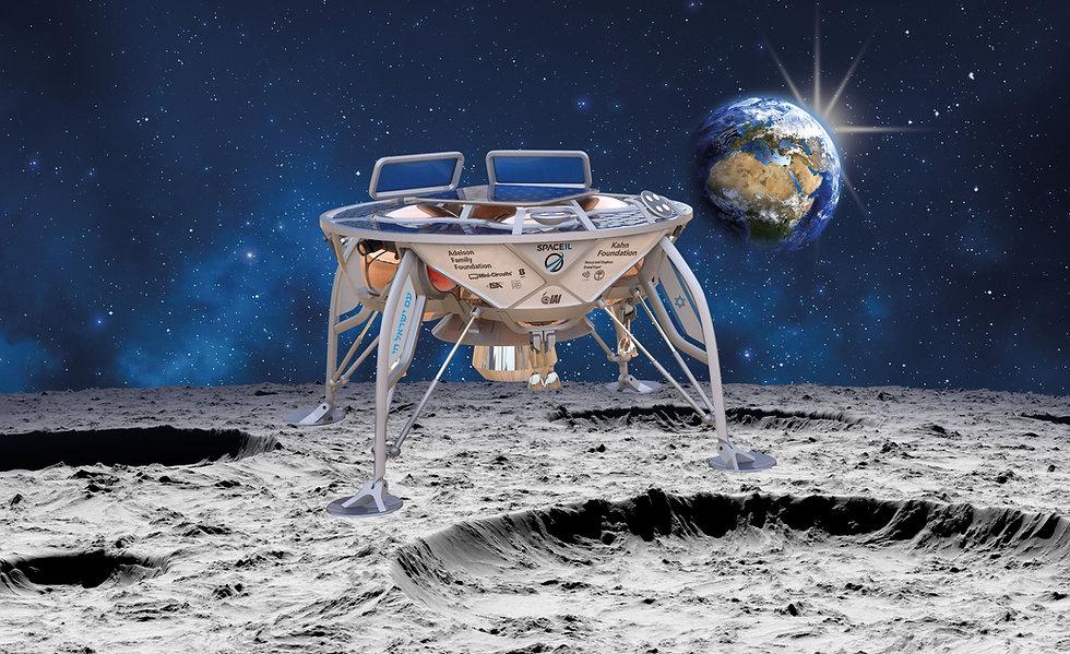 החללית הישראלית בראשית תלכוד את הירח בחמישי