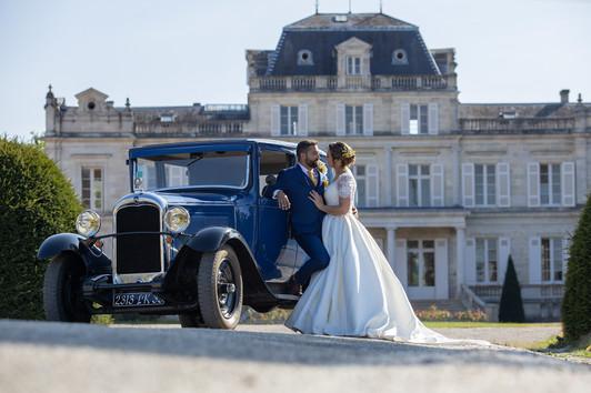 """Fanny et Joël se sont dit """"Oui!"""" le 31 août 2019 au Château Giscours."""