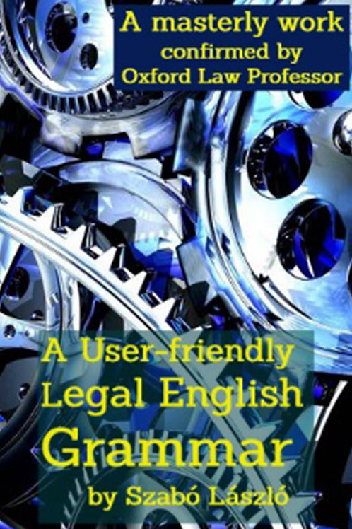 A User-Friendly Legal English Grammar - A PDF ebook