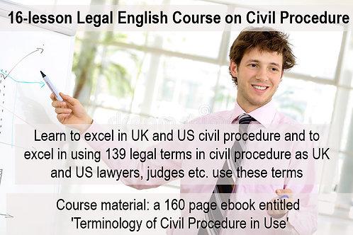 16-lesson Legal English Course on Civil Procedure