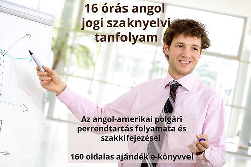 16 órás angol jogi szaknyelvi tanfolyam