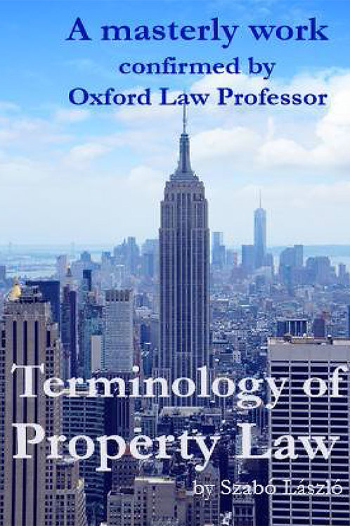 Terminology of Property Law in Use  - A PDF ebook