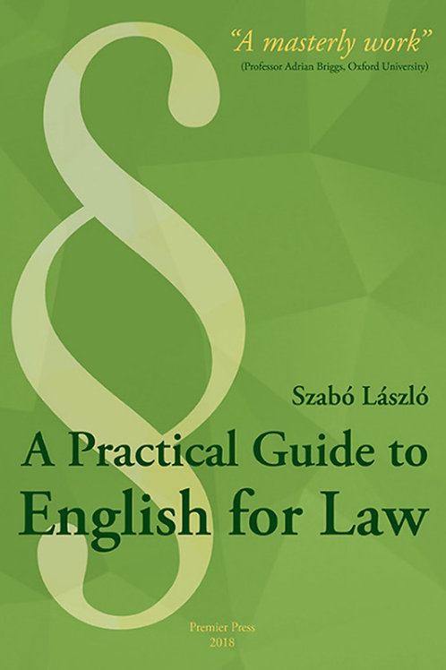 A Practical Guide to English for Law - A print book