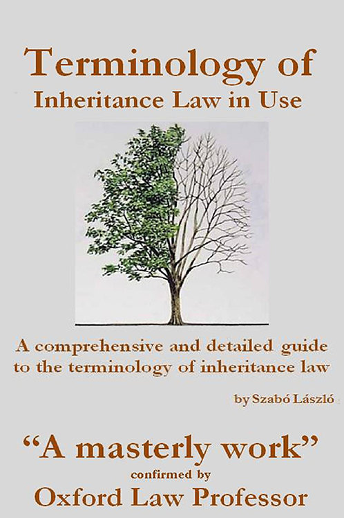 Terminology of Inheritance Law in Use - A PDF ebook