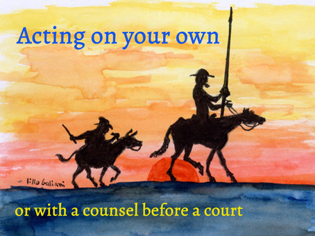 Acting as Don Quixote before the court?