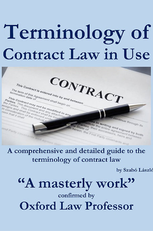 Terminology of Contract Law in Use - A PDF ebook