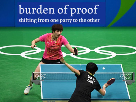Burden of proof - bouncing back and forth