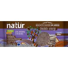 biscoito organico de arroz sabor chocola