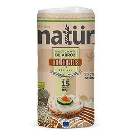 biscoito organico de arroz sabor multigr