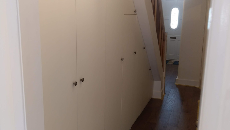 Built-in understairs storage in Islington