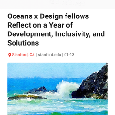 Oceans x Design fellows Reflect on a Year of Development, Inclusivity, and Solutions
