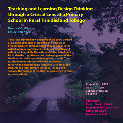 Doctoral dissertation: Teaching and learning design thinking through a critical lens at a primary school in rural Trinidad and Tobago