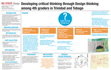 Developing different types of thinking skills in a 4th grade design studio in Trinidad and Tobago
