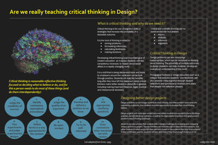 Are we really teaching critical thinking in Design?