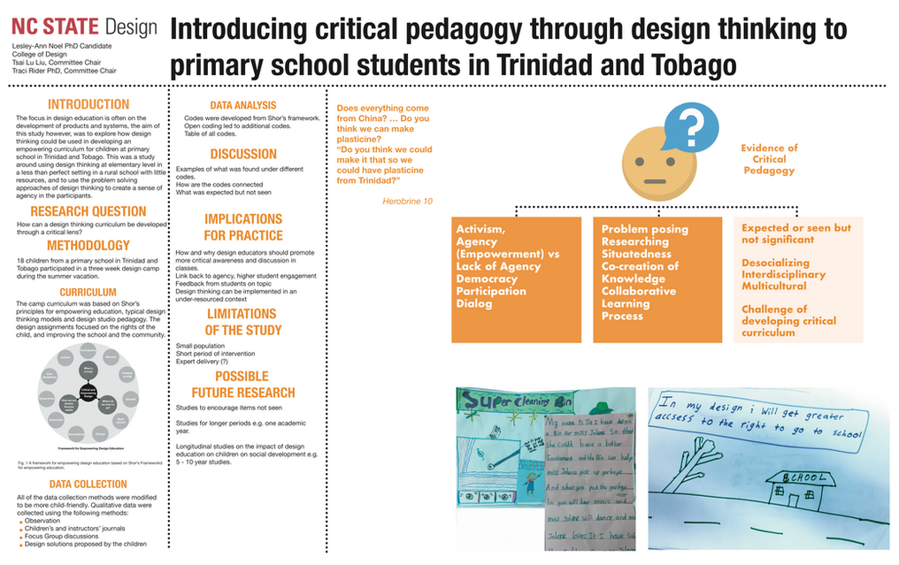Introducing critical pedagogy through design thinking to primary school students in Trinidad and Tobago