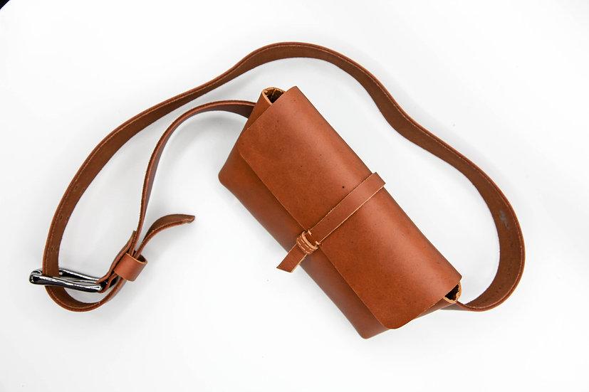 Leather satchel belt bag