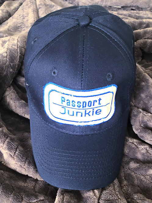 PASSPORT JUNKIE DAD HAT - NAVY