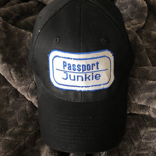 PASSPORT JUNKIE DAD HAT - BLACK
