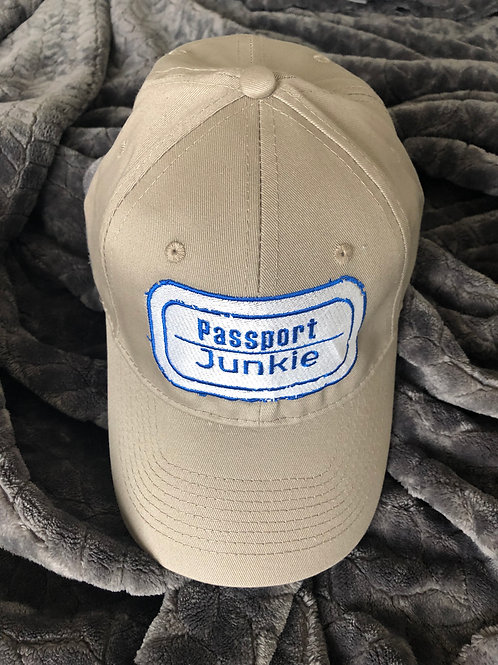 PASSPORT JUNKIE DAD HAT - KHAKI