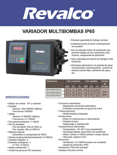 Multibombas IP20-IP65