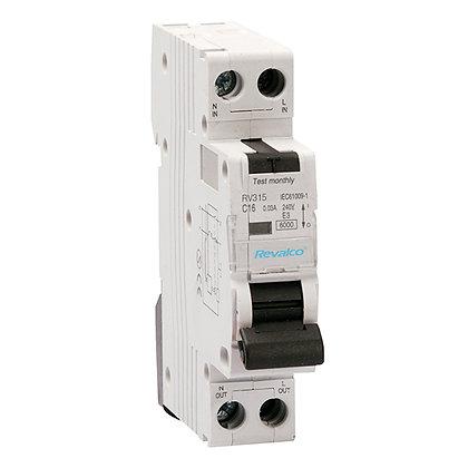 Interruptores diferenciales combinados RV315 - 6KA