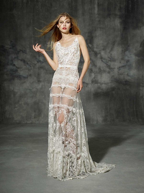 transparent wedding skirt