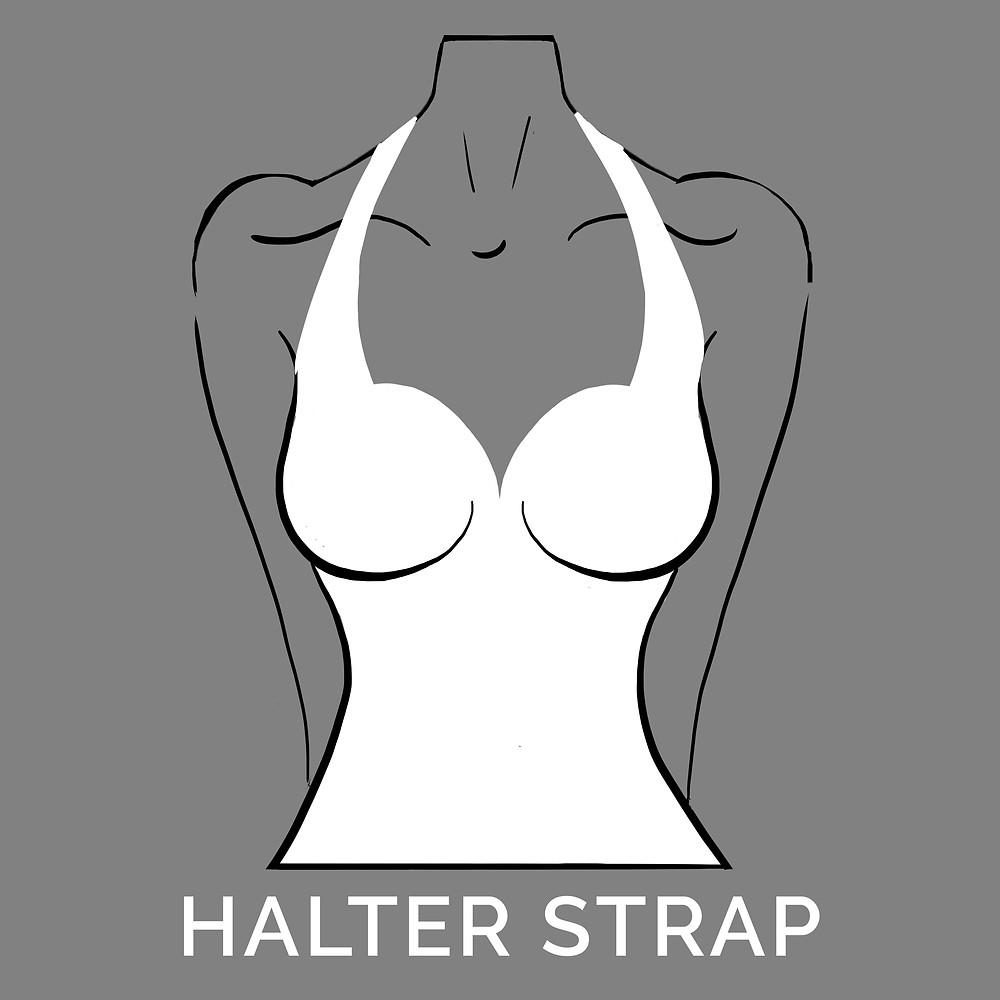 halter strap neckline