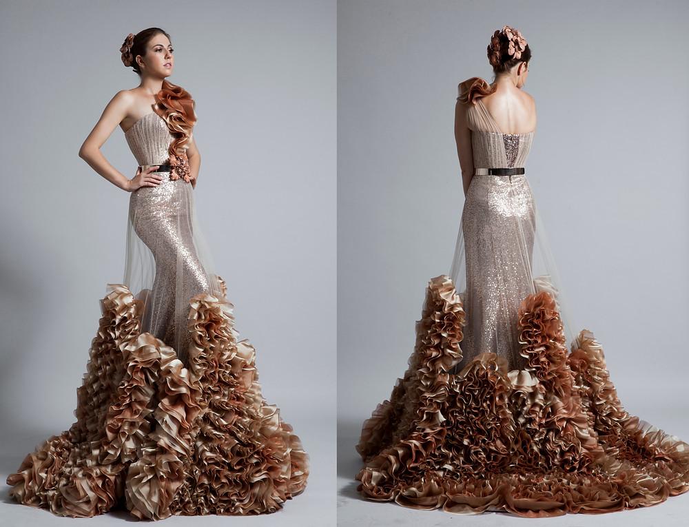 overskirt dress