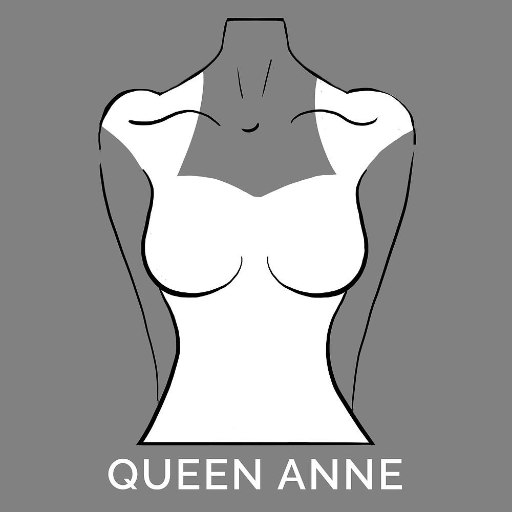 queen anne neckline
