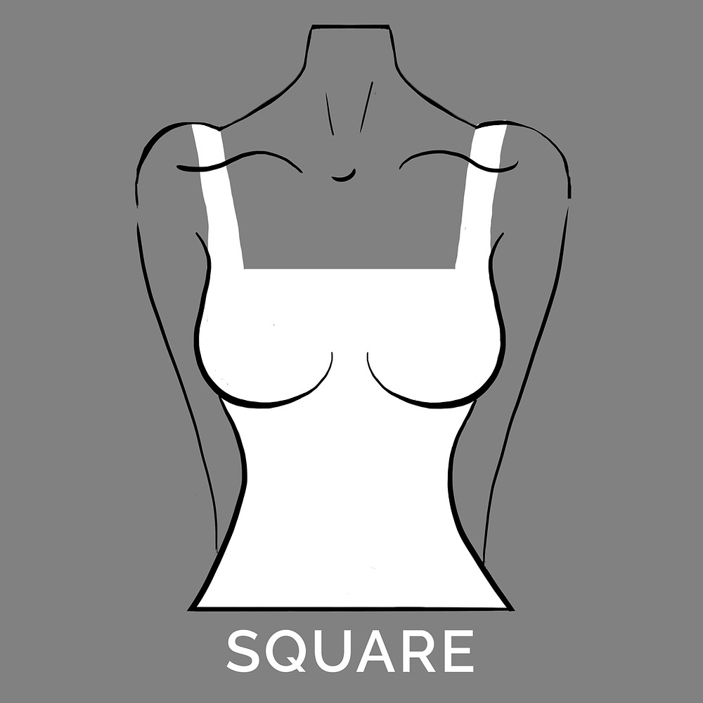square neckline