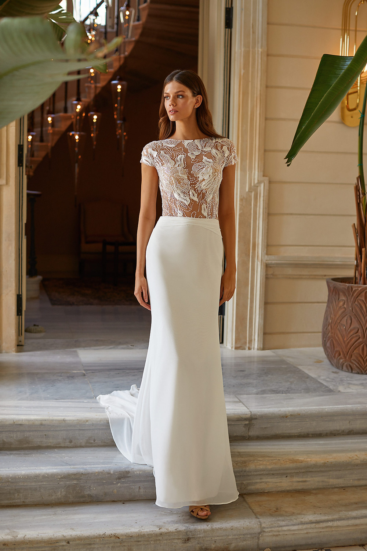 straight wedding skirt