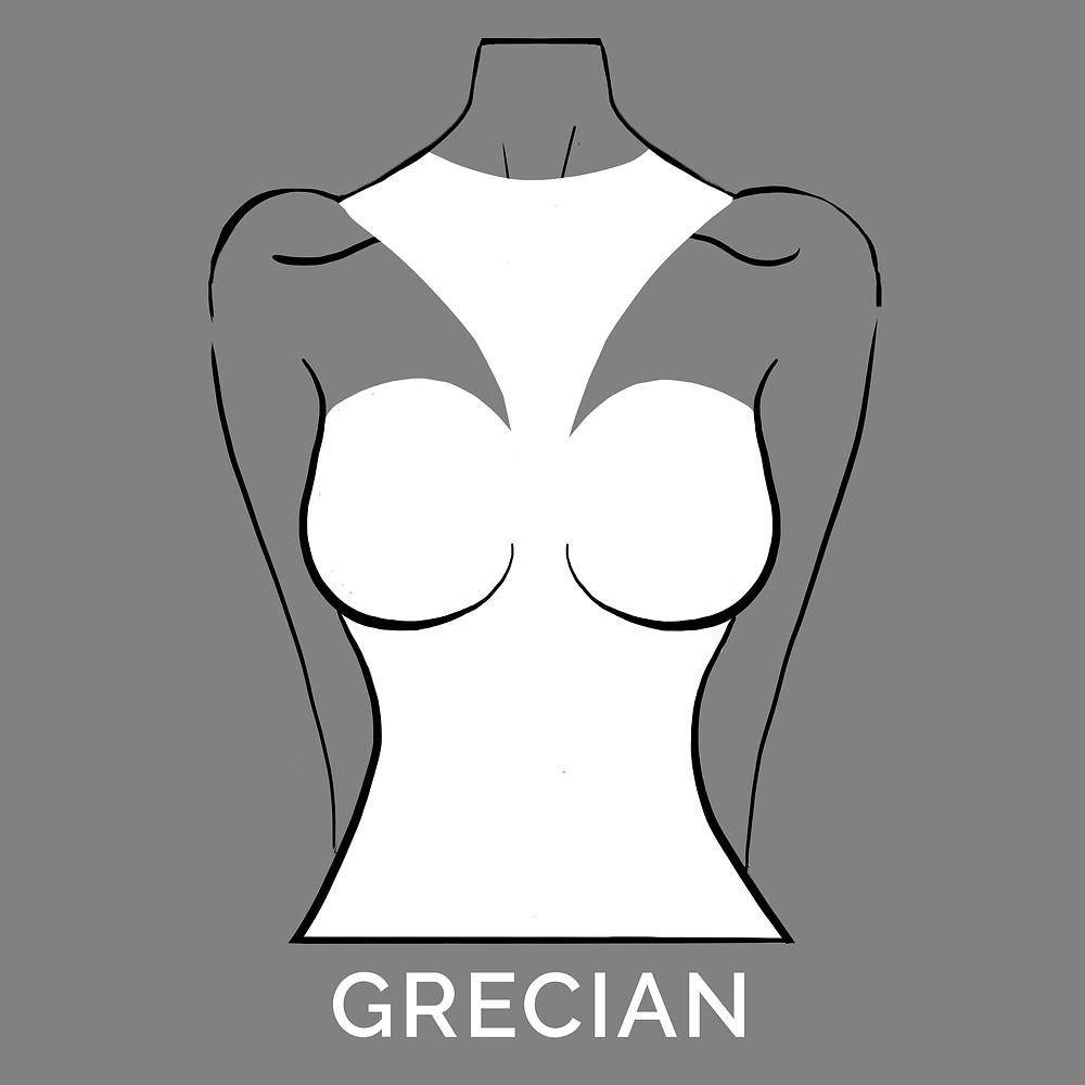grecian neckline