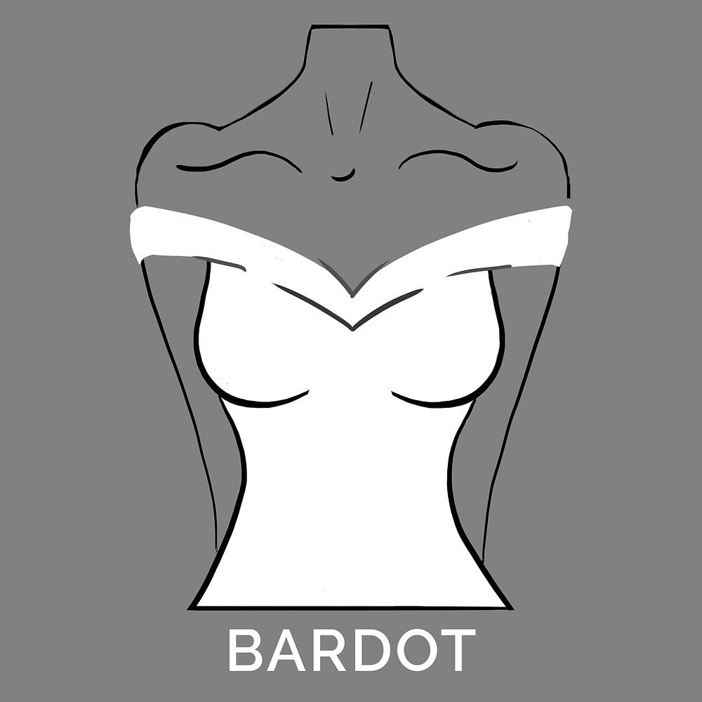 bardot neckline