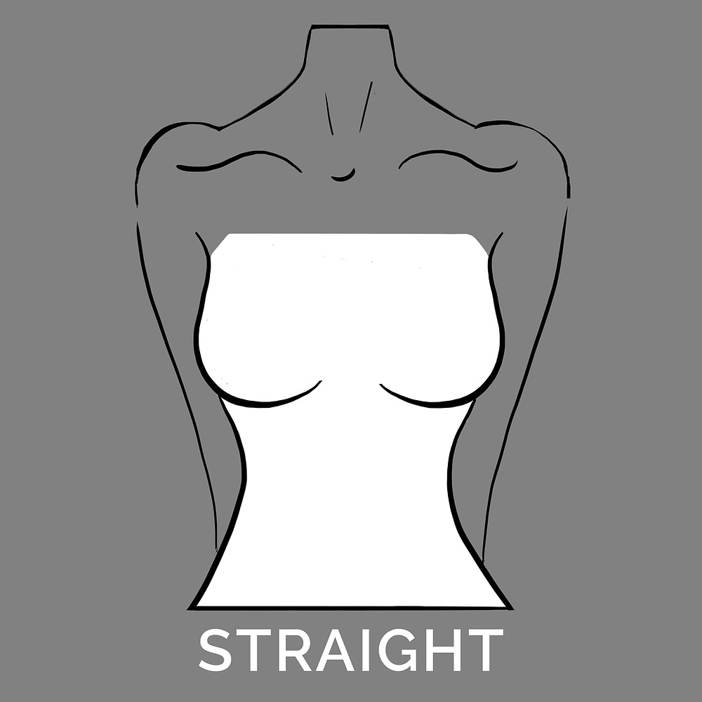 straight neckline