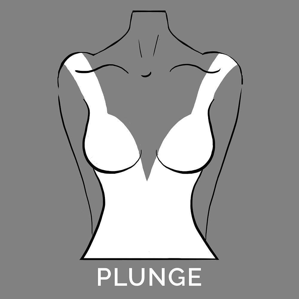 plunge neckline