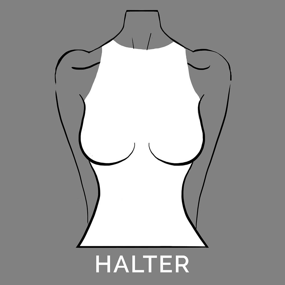 halter neckline