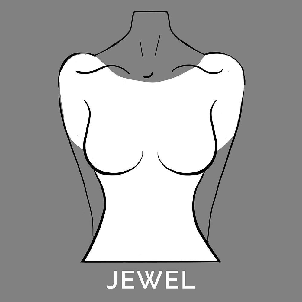 jewel neckline