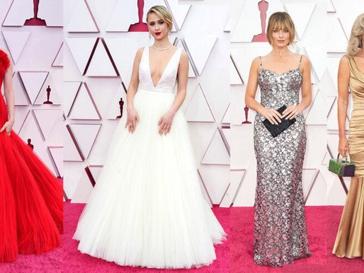 OSCARS 2021 - Red carpet gowns sewing technique review (PART 2)