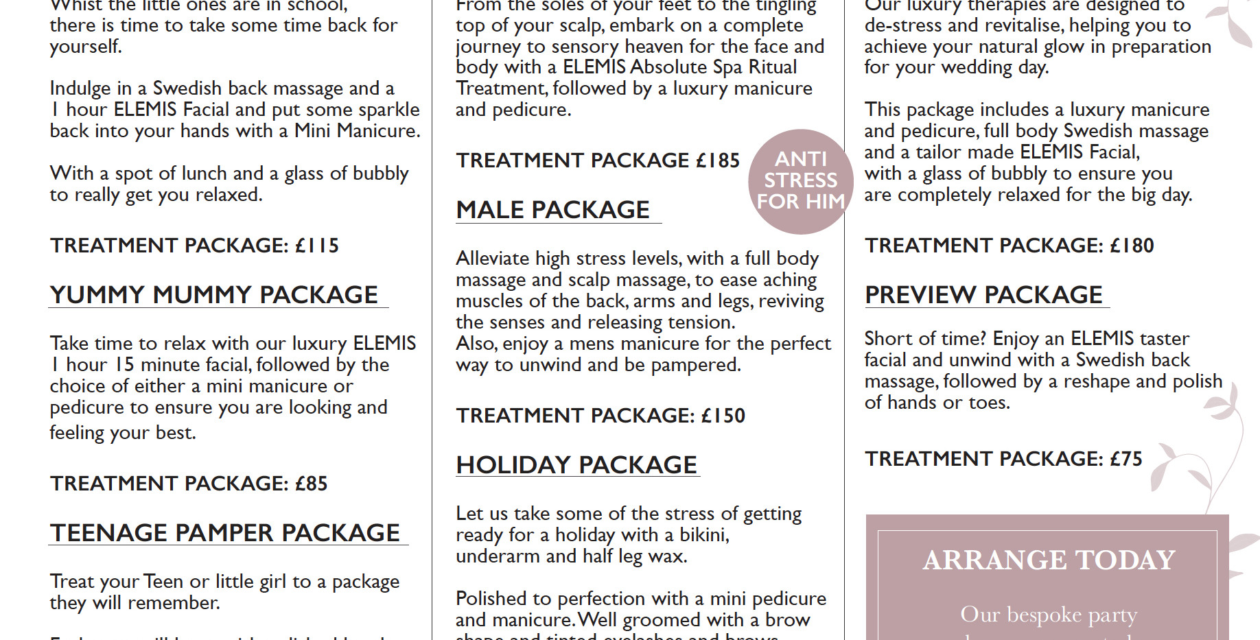 Luxury Packages