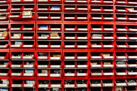 Red bins
