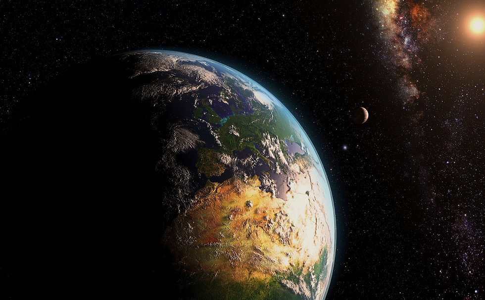 Photo of the Earth from space