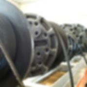 Hydraulic hoses on reels