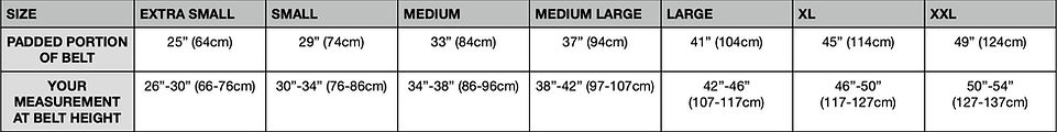 Badger Tool Belt Sizing Chart